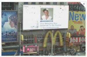 Dove Show Us Your Skin Campaign Times Square Samantha Gregory