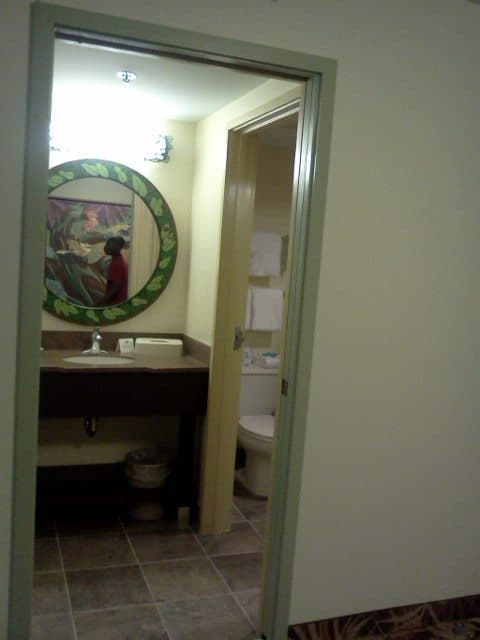 Picture of the second bathroom at our hotel room in the Lion King suite at Disney's Art of Animation Resort
