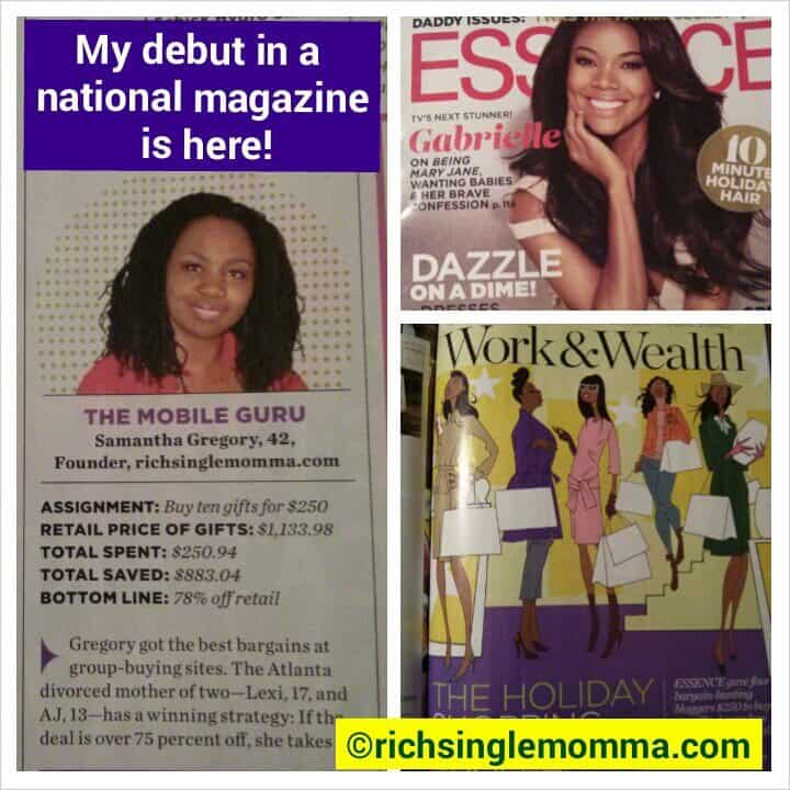 RichSingleMomma.com Appears in National Magazine!