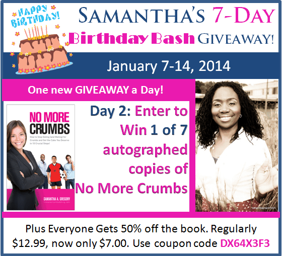 Day 2 – Birthday Bash Giveaway – No More Crumbs