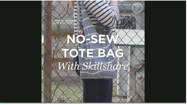 [Video] Cheap Kid's Craft – No Sew DIY Tote Bag