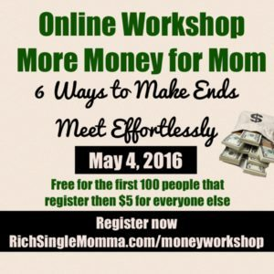 Money for Mom Workshop