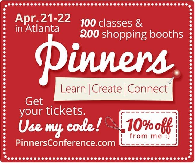 Pinners Conference Discount Promo Code 10% Off